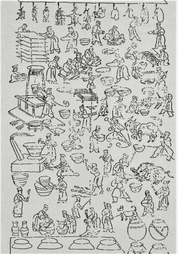 诸城庖厨画像石3