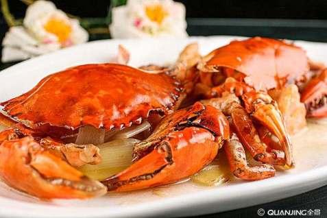 granchio allo zenzero 姜葱焗肉蟹