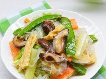 verdure e spaghetti al vetro 罗汉斋